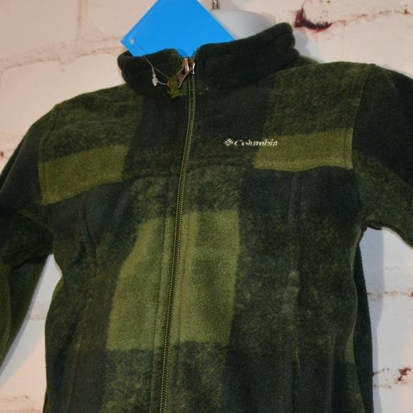 0dd6117ab Columbia Jackets & Coats | Green Plaid Zing Iii Fleece Zip Jacket ...